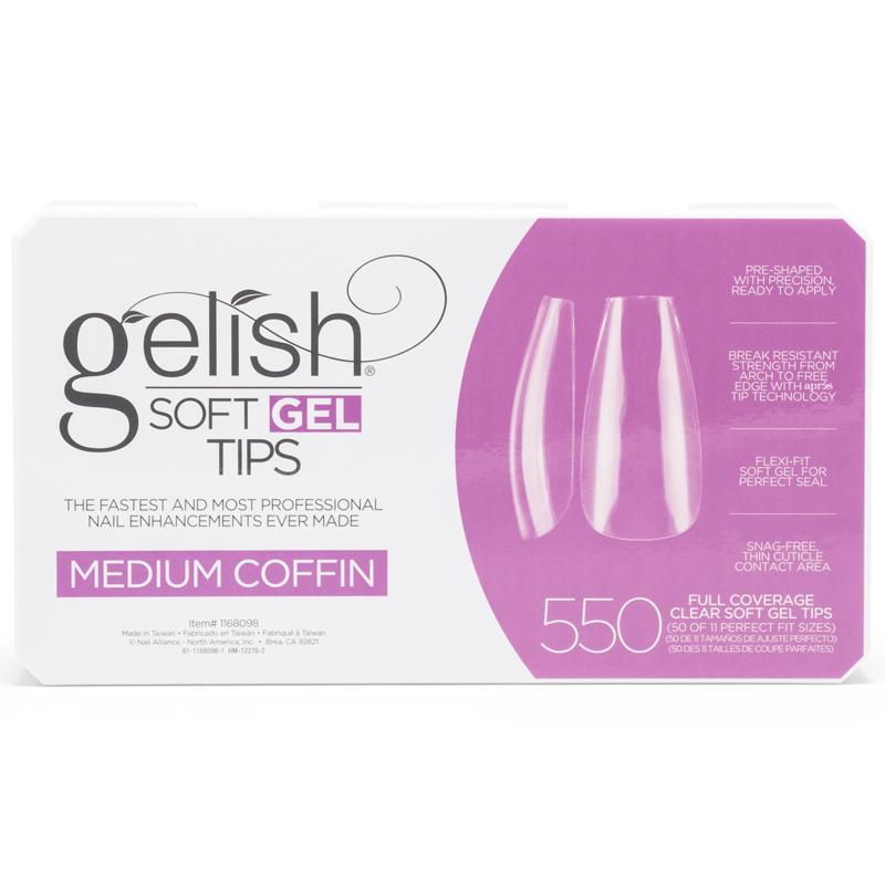 Gelish Soft Gel Tips - Medium Coffin (550pcs)