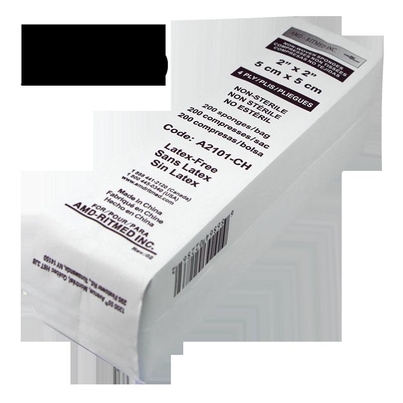 Tampon 2x2 AMD-Ritmed 4 Plis 25 paquets de 200pcs