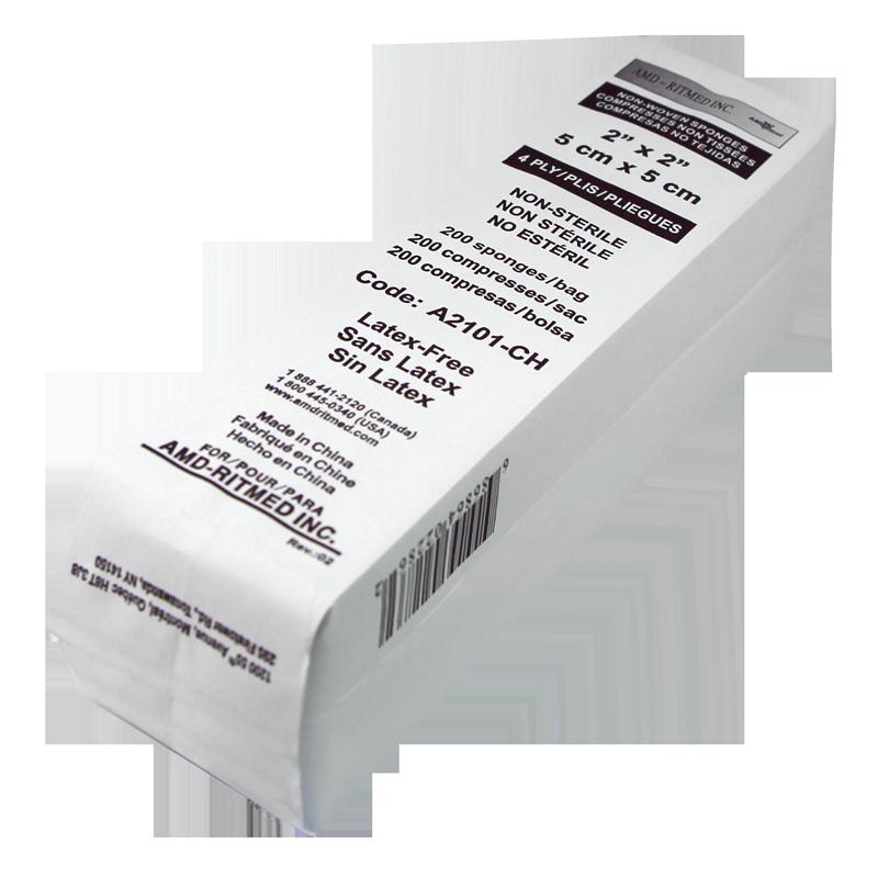 Tampon 2x2 AMD-Ritmed 4 Plis paquet de 200pcs