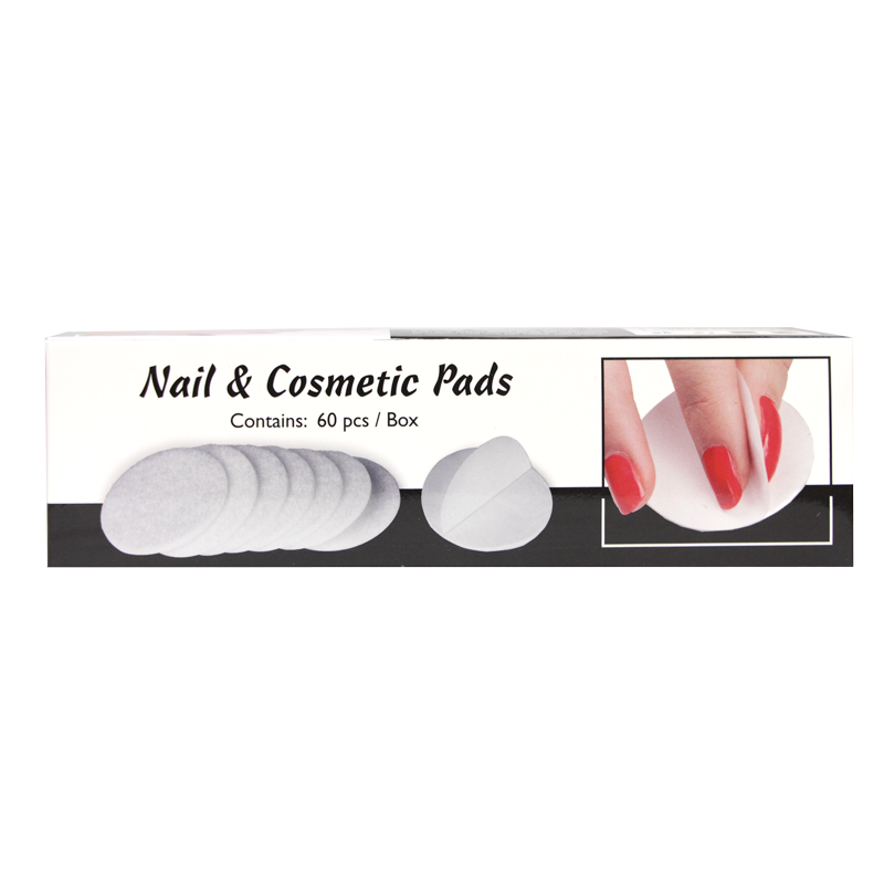 Round Nail and Cosmetic Pads with Lid (60pcs)