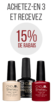 3 shellac recevez 15%